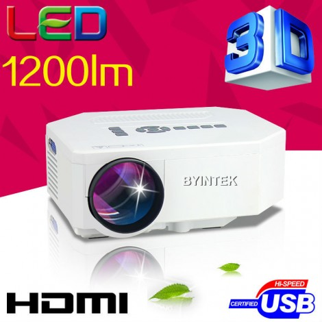 1200 lumens LED Mini Portable HDMI USB Video pico LCD 1080P 3D Home Theater Projector