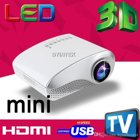 Mini 3D LED Projector LCD HDMI USB AV VGA TV Tuner Toys Beamer 200 lumens