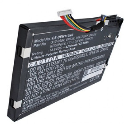 Battery For DELL Alienware M11x