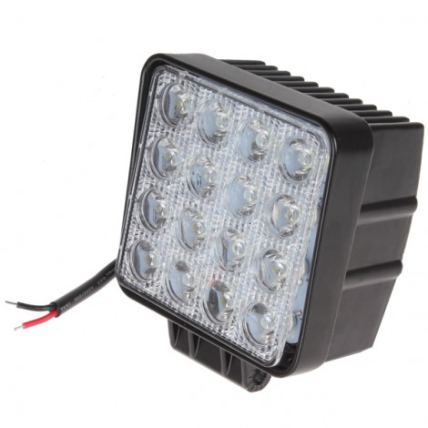 3200LM 48W 16X 3W Bead LEDs Square Offroad LED Work Light External Lamp For Car Truck Jeep