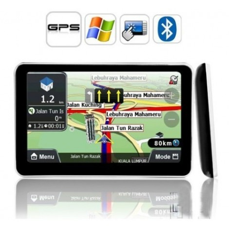 "5"" Touch Screen HD  Car GPS Navigation Sat Nav  Bluetooth+FM Transmitter +AV/IN"