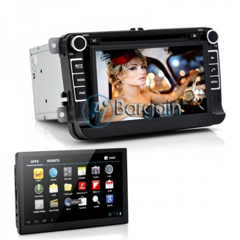 "7 Inch Car DVD Player With Detachable Android Tablet Panel ""Das Playa"" - For Volkswagen Vehicles, Can Bus, GPS, DVB-T (2 DIN)"