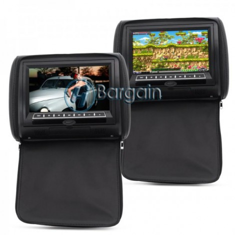 9 Inch Car Headrest Monitor with DVD Player (Pair)