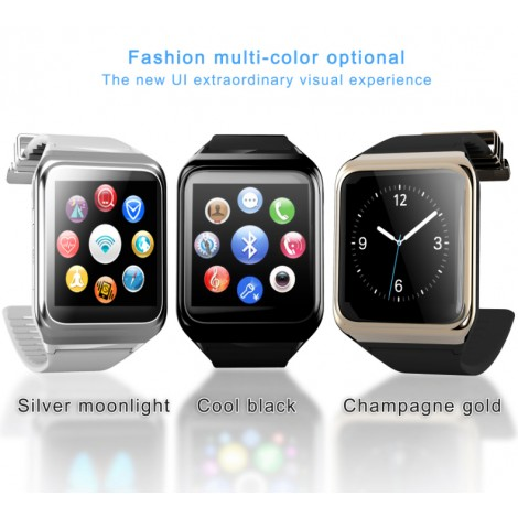 RWATCH R10 Smart Watch Multilingual GSM Phone Bluetooth 4.0 Heart Rate Compass Tracker