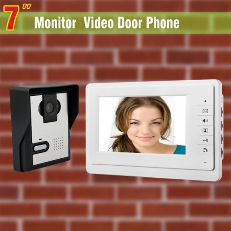 Wired 7 Inch Monitor Video Door Phone Intercom Doorbell Camera Video Intercom
