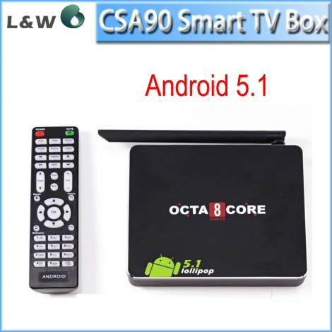 CSA90 Smart TV Box Android 5.1 Bluetooth4.0 RK3368 Cortex-A53 Octa Core 1GB/8GB