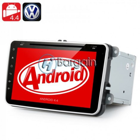 Double DIN Android 4.4 Car DVD Player Head Unit for Volkswagen Vehicles