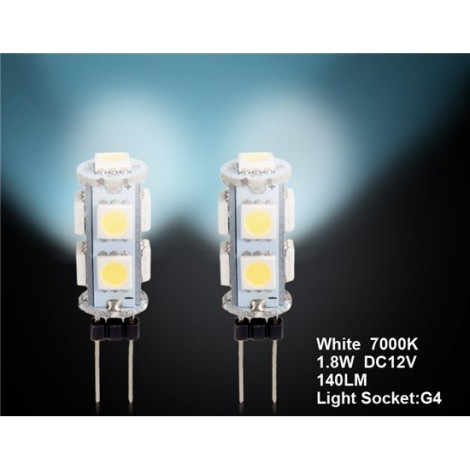 G4 9 x 5050 White Car LED Light 2pc Set