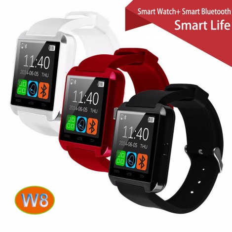 Gooweel W8 Bluetooth Smart Watch Phone for iPhone + Samsung Android Phone Smartwatch