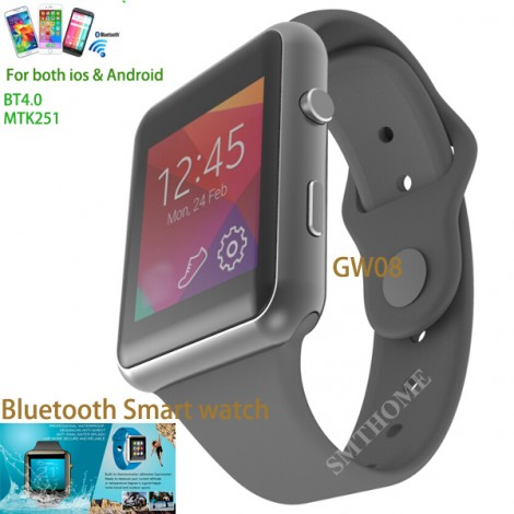 Bluetooth Smart Watch GW08 Titanium Colorful  For Apple iPhone 4 5S 6 Plus Samsung