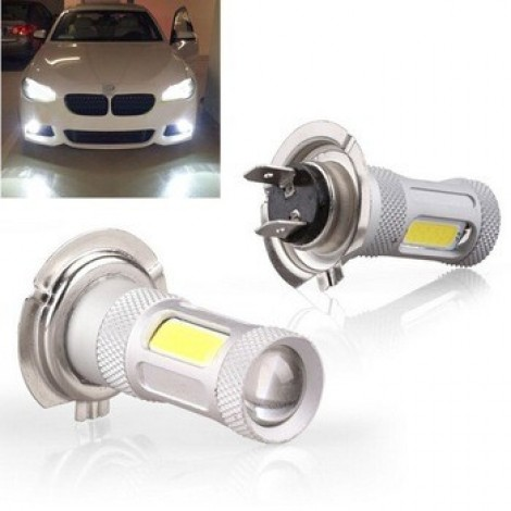 H7 80W COB LED Car Auto DRL Driving Fog Tail Headlight Light White 12-24V