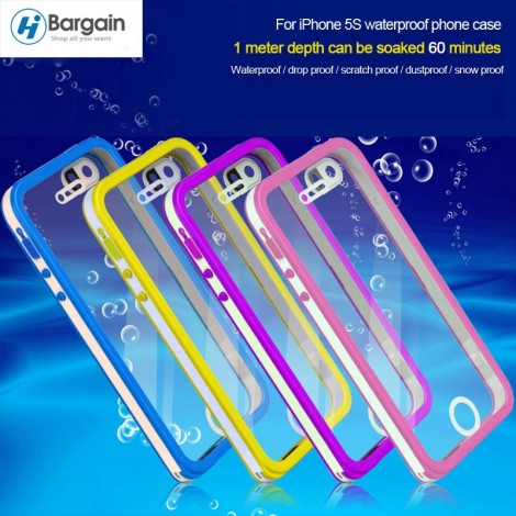 Waterproof Cell Phone Cover Cases For iPhone 5S 5 for Diving Underwater