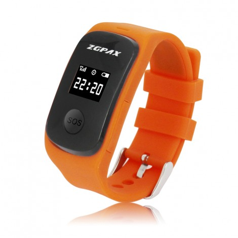 Mini GPS Tracker Watch For Kids Elderly A-GPS Locator SOS Emergency