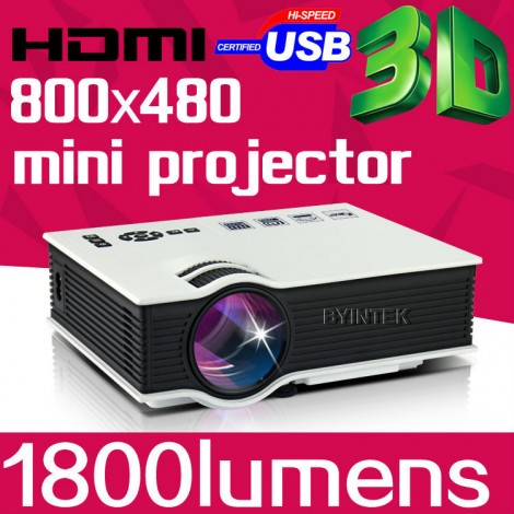 1800 lumens 1080P HD Portable Pico mini portable LCD LED Video Projector 3D