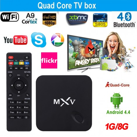 MXV S805 TV Box Android 4.4 Amlgic S805 Quad Core 1GB/8GB HEVC Media Player