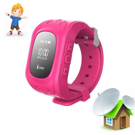 Kid Safe GPS Watch Wristwatch SOS Call Location Finder Locator Tracker Q50