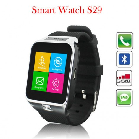 S29 Bluetooth Smartwatch Smart Watch Phone with camera TF card and SIM card slot