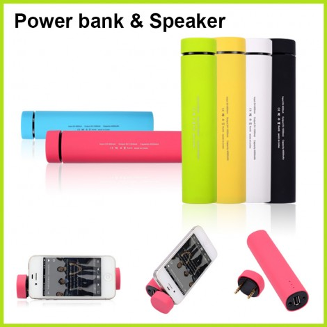 Mini Bluetooth speaker and 4000 mAh power bank for samsung iPhone, iPad