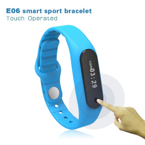 Touch Screen Smart Band Wristband E06 Bracelet Fitness Wearable Tracker Waterproof IP67 Bluetooth Watch