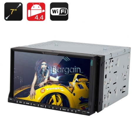 2 DIN 7 Inch Car DVD Player - Dual Core CPU, 1GB RAM, Android 4.4, GPS , 3G, Wi-Fi,RDS Control,Bluetooth