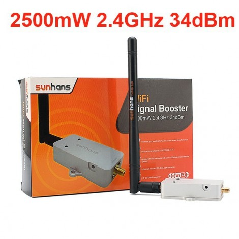 2.4g Wireless 2.5W 34DBm Wifi Broadband Amplifier Signal Booster