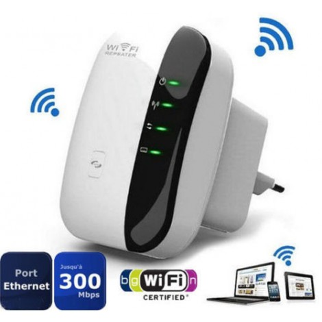 300Mbps Wireless-N AP Range 802.11 Wifi Repeater Signal Extender Booster