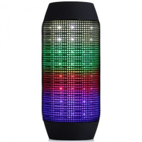 Wireless Bluetooth Speaker with Colorful LED Light Disc Dancing Sports Outdoor Speaker