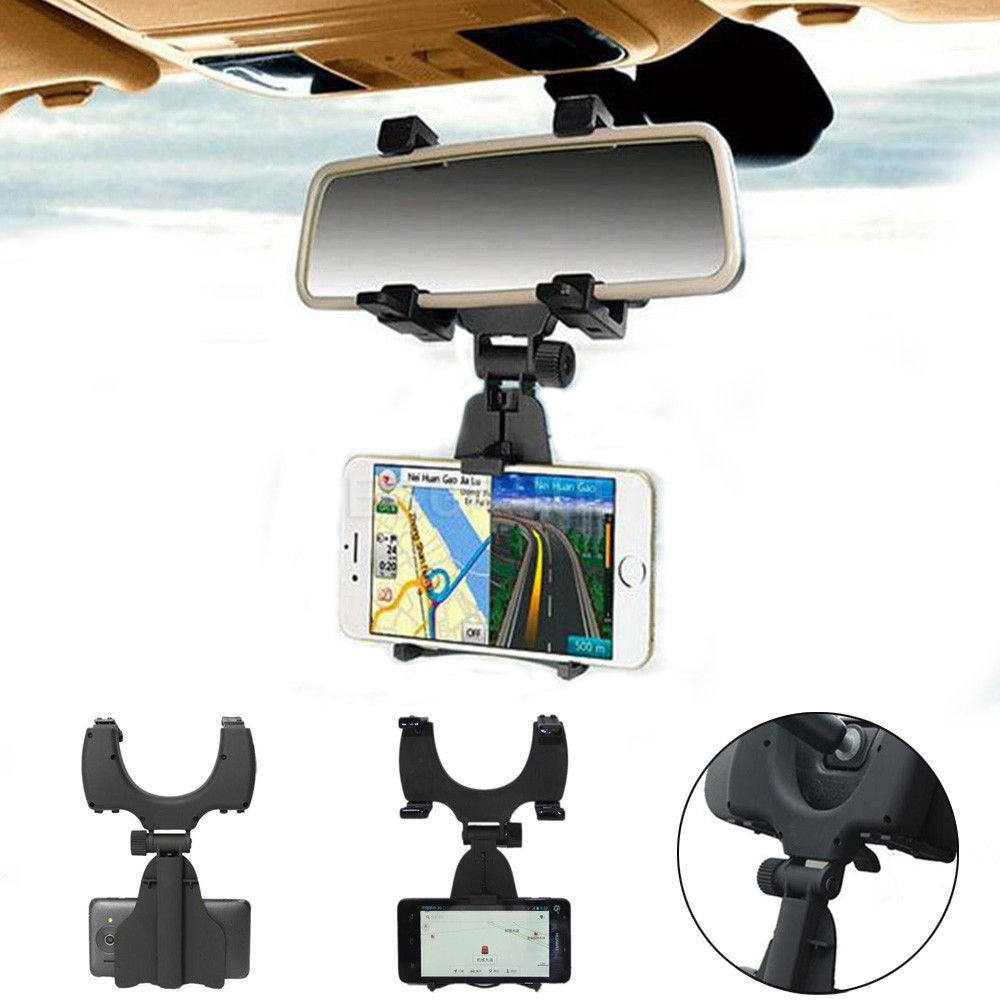 Car Rearview Mirror Mount Phone Holder Car Rear View