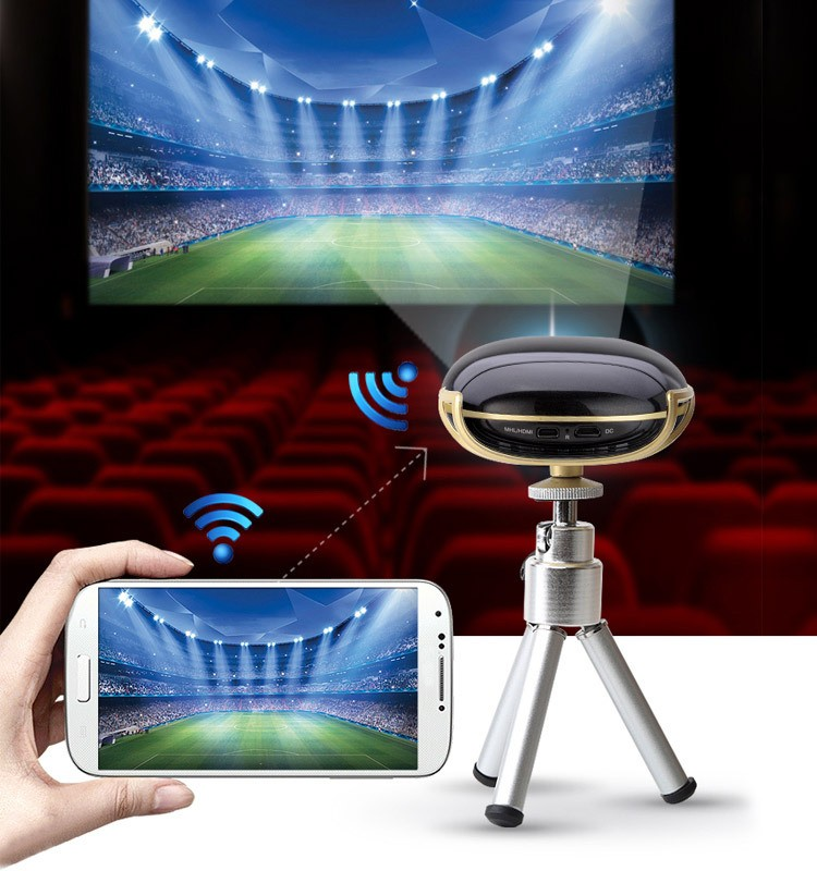 Wireless smartphone mini pocket projector with miracast for Mirror mini projector