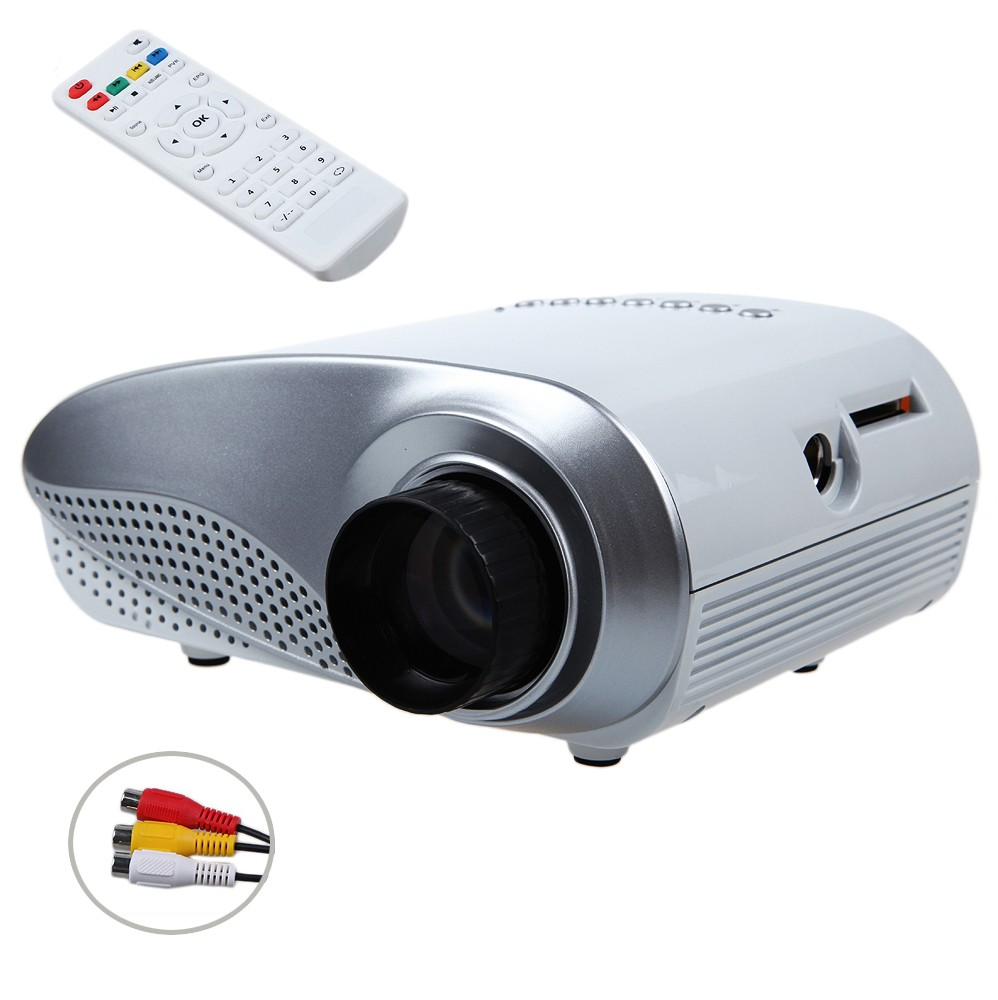 Rd802 mini portable lcd projector hdmi home theater for Small hdmi projector