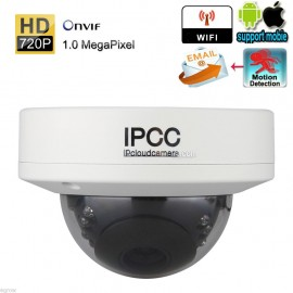 720P H.264 HD Wireless Security CCTV Dome IP Camera Night Vision IR-Cut Recorder