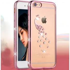 For Apple iPhone Bling Clear Crystal Diamond  Soft TPU Case Cover