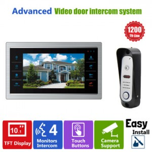 Video Record Door Phone Intercom System 10 TFT LCD DoorBell