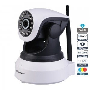 720P 1.0MP WiFi Wireless IP Security Camera 3.6mm Night vision 10m