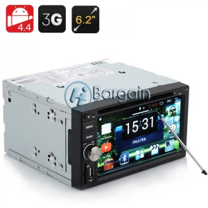 2 DIN Car DVD Player 'Panthera' - 6.2 Inch,Android 4.4 OS, 3G, Wi-Fi, GPS, Bluetooth