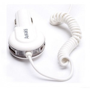 3 in 1 Car Charger With Cable  For iPhone 5s 6 4S Samsung Galaxy S3 S4 S5 HTC M8 LG Nexus5