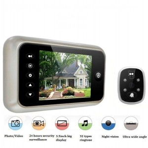 "3.5"" LCD Digital Peephole Viewer 120° Door Eye Doorbell Video Color IR Camera"