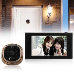 "4.7"" GSM Digital Peephole Viewer 150° Door Eye Doorbell Video Color IR Camera"