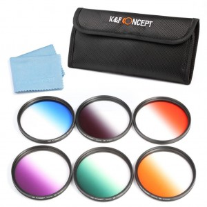 58MM 9Pcs Graduated Color Lens Filter Kit For Canon Rebel T4i T3 T3i T2i T1i XSi XS