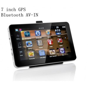 7 inch car/truck GPS navigation DDR3 256MB ram+8GB ROM+Bluetooth+ AV-IN