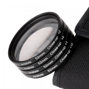 Andoer 52mm Macro Close-Up Filter Set +1 +2 +4 +10 + Pouch for Nikon Canon Sony