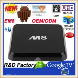 M8 Smart Android TV BOX Support 3G Amlogic S802  Quad core 2G/8G