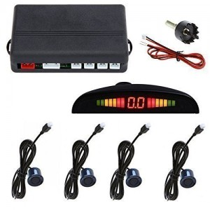 4 Parking Sensor Car Reverse Backup Rear Radar System Kit