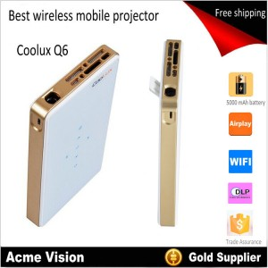 Coolux Q6 mini pico pocket LED phone size wireless mobile projector