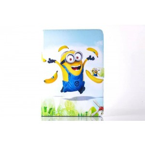 For iPad 2 3 4/Air/Air2/Mini Cartoon Minions Despicable ME PU Leather Case Cover