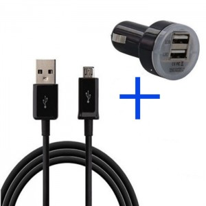 Dual USB car charger for Samsung Galaxy S4 S3 III Note 2 II I9500 I9300