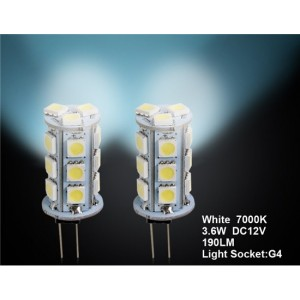 G4 18 x 5050 White Car LED Light 2pc Set