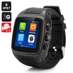 1.54 Inch Touch Screen iMacwear SPARTA M7 Smart Watch Phone - IP67 Waterproof