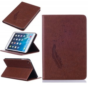 Flying Feather PU Leather Wallet Case Cover Stand For All iPad Samsung