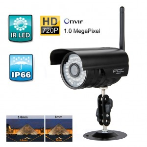 IPCC 720P HD Wireless WiFi Outdoor IP Network CCTV Home Security Camera System